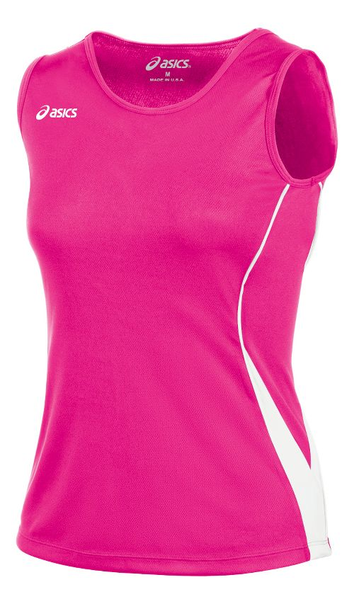 ASICS Girls Jr. Baseline Jersey Sleeveless Technical Tops - Pink Glo/White YXL