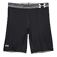 Womens Under Armour HeatGear Alpha Compression Long Unlined Shorts