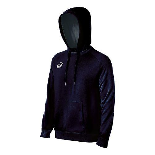 Mens ASICS All Sport Half-Zips & Hoodies Technical Tops - Navy L