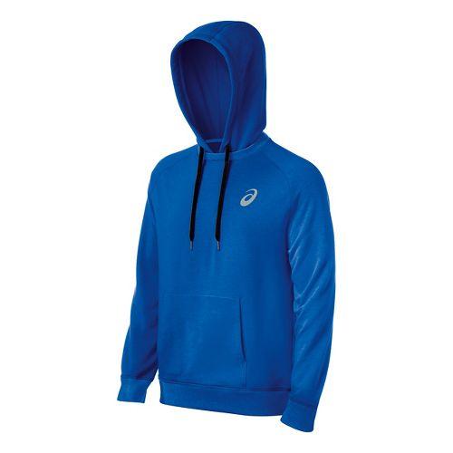 Mens ASICS All Sport Half-Zips & Hoodies Technical Tops - Royal L