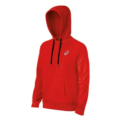 Mens ASICS All Sport Half-Zips & Hoodies Technical Tops - Red M