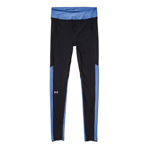 Womens Under Armour HeatGear Alpha Compression Legging Full Length Tights - Black/Picasso Blue L