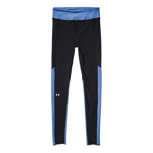 Womens Under Armour HeatGear Alpha Compression Legging Full Length Tights - Black/Picasso Blue XS