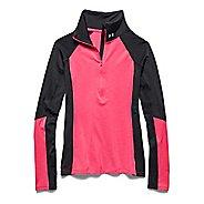 Womens Under Armour ColdGear Cozy Long Sleeve Half Zip Technical Tops