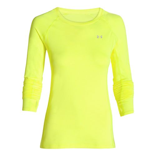 Womens Under Armour ColdGear Cozy Crew Long Sleeve No Zip Technical Tops - X-Ray S ...
