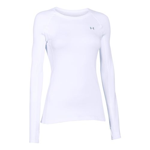 Womens Under Armour ColdGear Cozy Crew Long Sleeve No Zip Technical Tops - Pink Shock/Pink ...