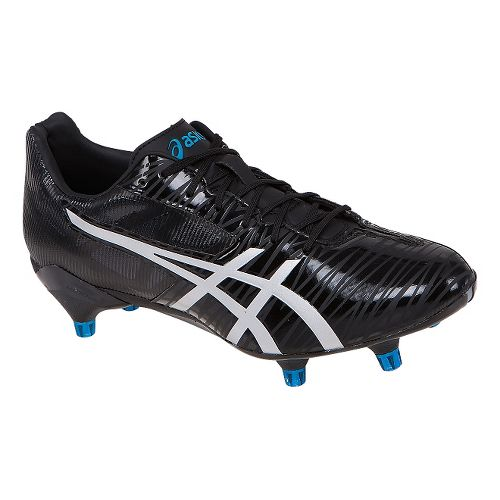 Mens ASICS GEL-Lethal Speed Cleated Shoe - Black/Silver 7