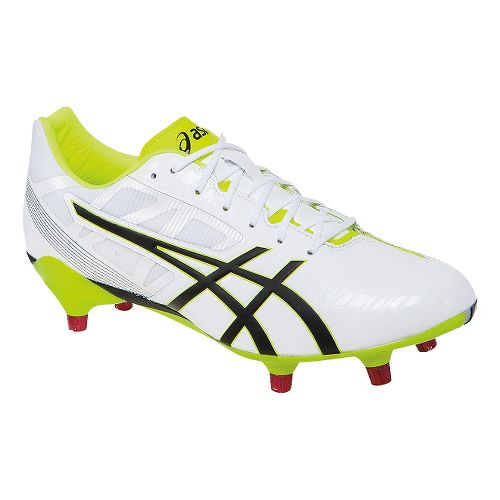 Mens ASICS GEL-Lethal Speed Cleated Shoe - White/Black 8.5