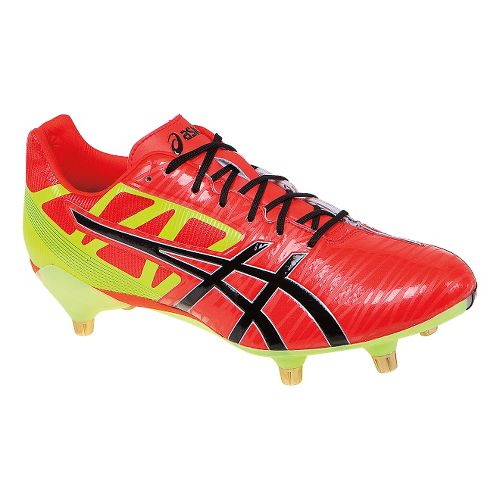 Mens ASICS GEL-Lethal Speed Cleated Shoe - Deep Orange/Yellow 7.5