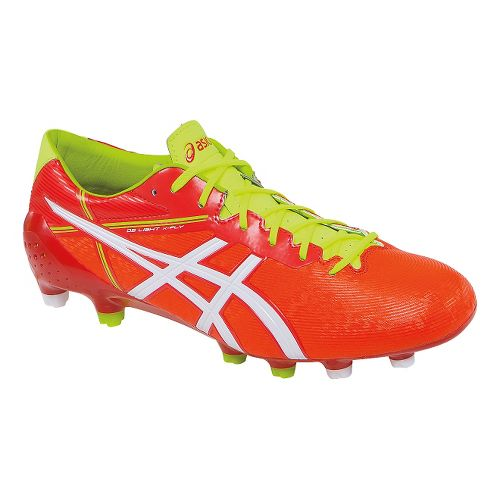 Mens ASICS DS Light X-Fly 2 MS Cleated Shoe - Orange Red/White 7.5