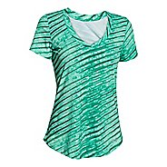 Womens Under Armour Perfect Pace Printed Tee Short Sleeve Technical Tops