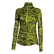 Womens Under Armour Fly Fast Printed 1/2 Zip Long Sleeve Technical Tops
