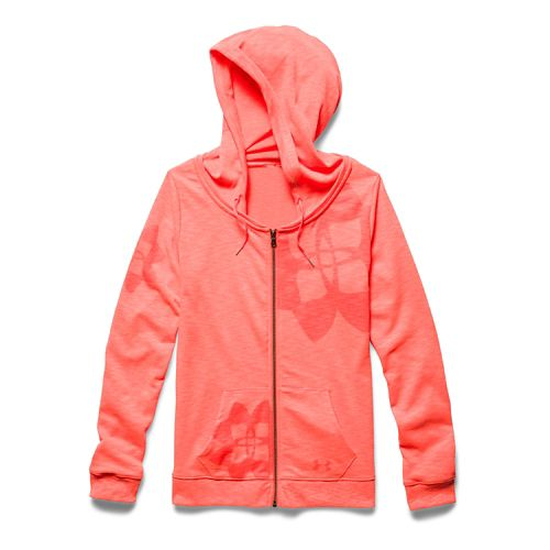 Womens Under Armour Kaleidalogo Full-Zip Warm Up Hooded Jackets - After Burn L