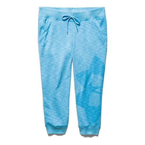 Womens Under Armour Kaleidalogo Capri Pants - Island Blues XL
