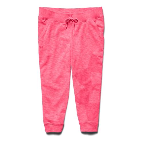 Womens Under Armour Kaleidalogo Capri Pants - Pink Shock XL