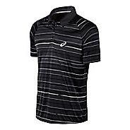 Mens ASICS Club Graphic Polo Short Sleeve Technical Tops