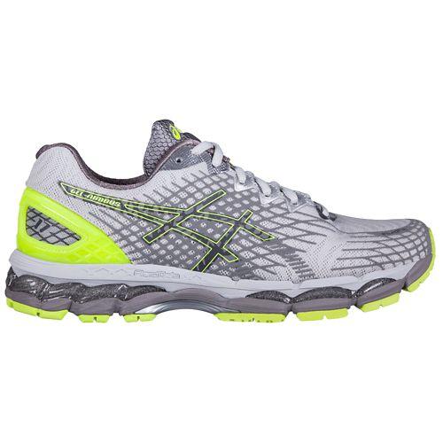 Mens ASICS GEL-Nimbus 17 Lite-Show Running Shoe - Grey/Yellow 11