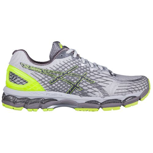 Mens ASICS GEL-Nimbus 17 Lite-Show Running Shoe - Grey/Yellow 12.5