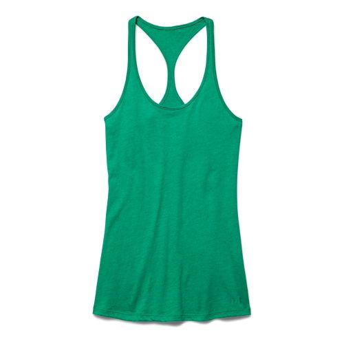 Womens Under Armour Charged Cotton Tri-Blend Ultimate Tank Technical Tops - Plantation M