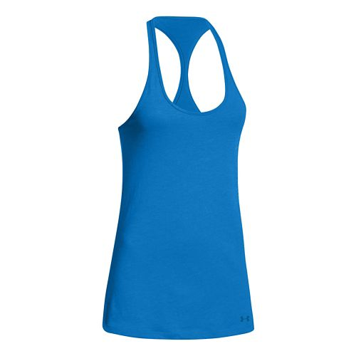 Womens Under Armour Charged Cotton Tri-Blend Ultimate Tank Technical Tops - Snorkel XS