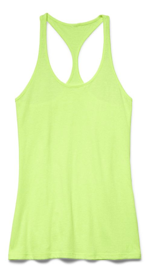 Womens Under Armour Charged Cotton Tri-Blend Ultimate Tank Technical Tops - X-Ray L