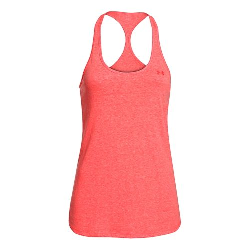 Womens Under Armour Charged Cotton Tri-Blend Ultimate Tank Technical Tops - After Burn L
