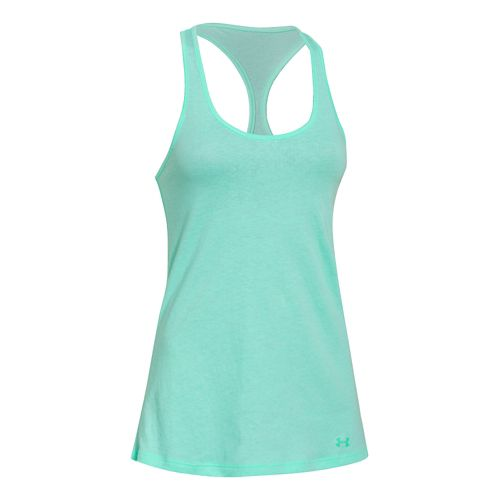 Womens Under Armour Charged Cotton Tri-Blend Ultimate Tank Technical Tops - Crystal S