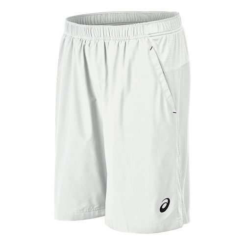 Mens ASICS Club Woven Unlined Shorts - Real White S