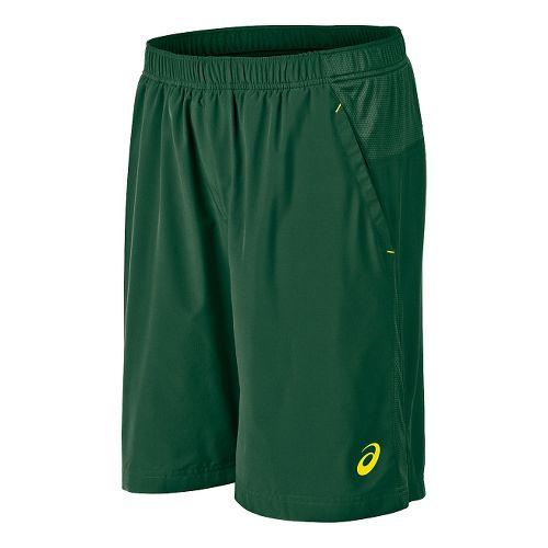 Mens ASICS Club Woven Unlined Shorts - Oak Green L
