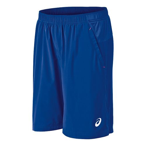Mens ASICS Club Woven Unlined Shorts - Air Force Blue L