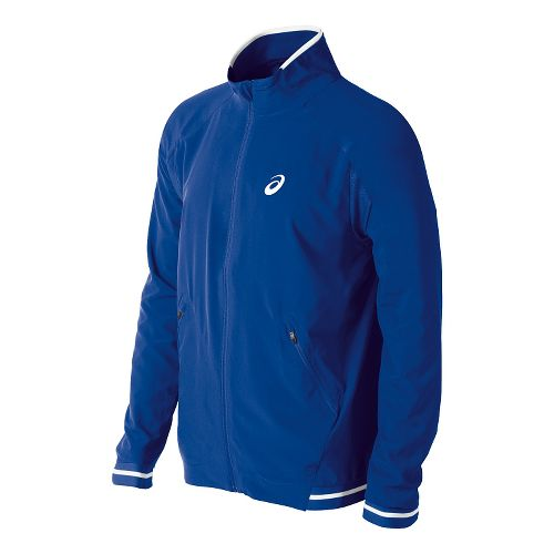 Mens ASICS Club Woven Warm Up Hooded Jackets - Air Force Blue M