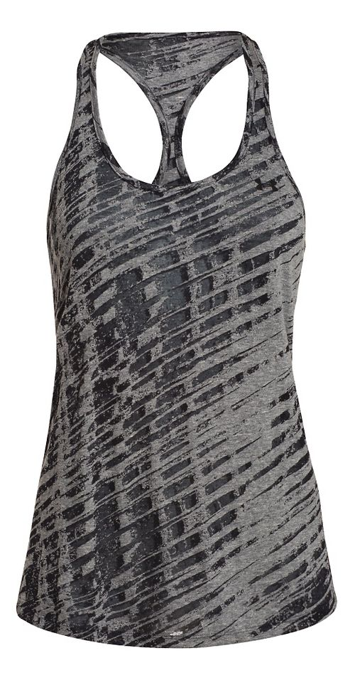 Womens Under Armour Charged Cotton Tri-Blend Ultimate Novelty Tank Technical Tops - Black XL