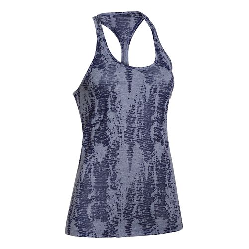 Womens Under Armour Charged Cotton Tri-Blend Ultimate Novelty Tank Technical Tops - Faded Ink M ...