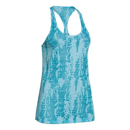 Womens Under Armour Charged Cotton Tri-Blend Ultimate Novelty Tank Technical Tops - Island ...