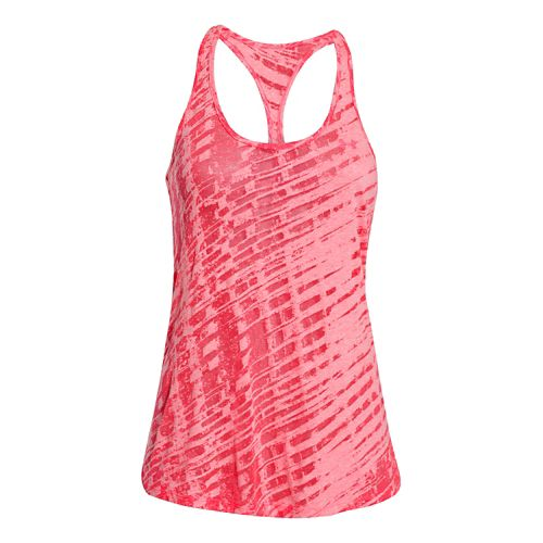 Womens Under Armour Charged Cotton Tri-Blend Ultimate Novelty Tank Technical Tops - Pink Shock ...