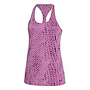 Womens Under Armour Charged Cotton Tri-Blend Ultimate Novelty Tank Technical Tops - Aubergine L