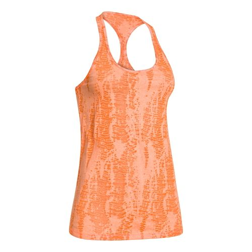 Womens Under Armour Charged Cotton Tri-Blend Ultimate Novelty Tank Technical Tops - Afterglow S