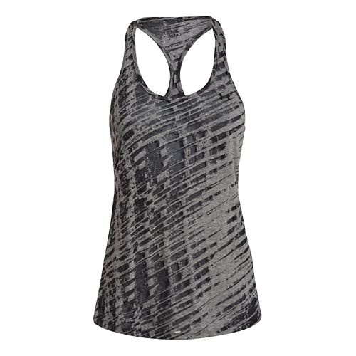 Womens Under Armour Charged Cotton Tri-Blend Ultimate Novelty Tank Technical Tops - Aubergine M