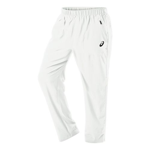 Mens ASICS Club Woven Full Length Pants - Real White XXL