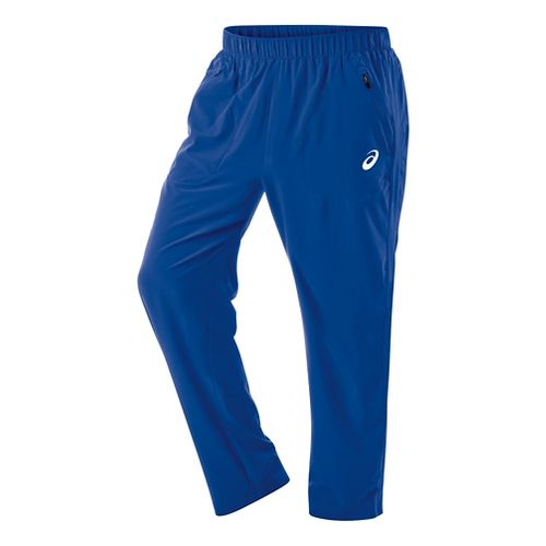 Mens ASICS Club Woven Full Length Pants - Air Force Blue M