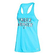 Womens Under Armour Charged Cotton Wordmark Tank Technical Tops