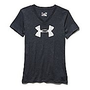 Womens Under Armour Charged Cotton Painted V-Neck Short Sleeve Technical Tops