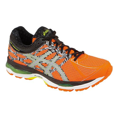 Mens ASICS GEL-Cumulus 17 Lite-Show Running Shoe - Orange/Yellow 11