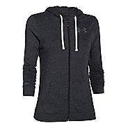 Womens Under Armour Charged Cotton Tri-Blend Full Zip Warm Up Hooded Jackets