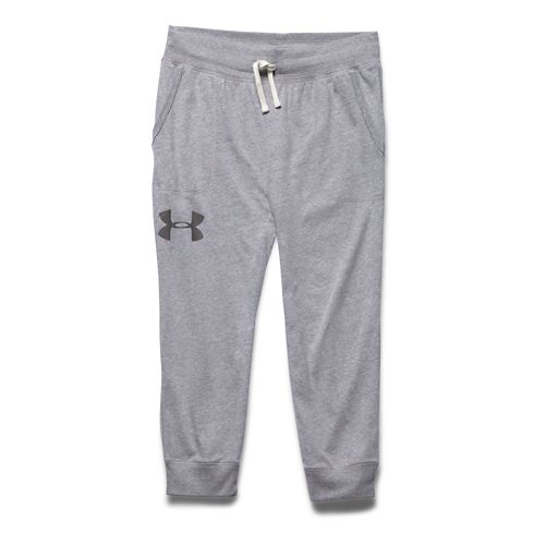 Womens Under Armour Charged Cotton Triblend Capri Pants - Faded Ink L