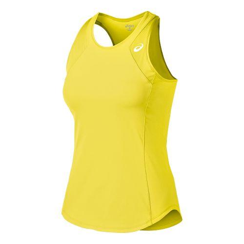 Womens ASICS Athlete Tank Technical Tops - Sunshine Yellow L