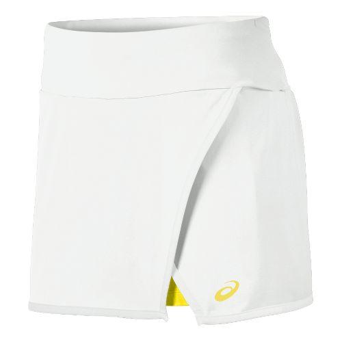Mens ASICS Athlete Skort Fitness Skirts - Real White L