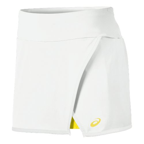 Mens ASICS Athlete Skort Fitness Skirts - Real White M