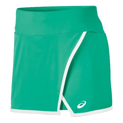 Mens ASICS Athlete Skort Fitness Skirts - Cool White XS