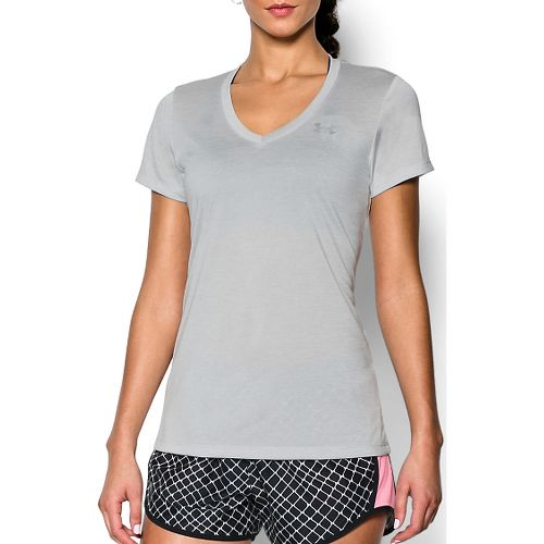 Womens Under Armour Tech V-Neck Twist Short Sleeve Technical Tops - Elemental S